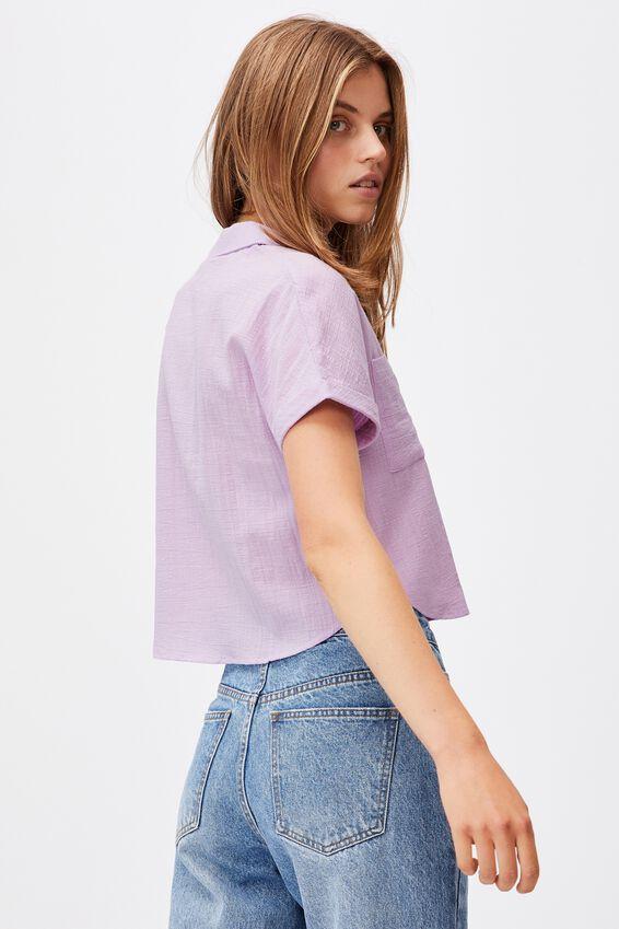 Erin Short Sleeve Shirt, LILAC BLOSSOM