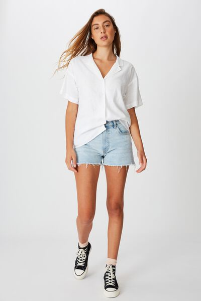 Oversize Resort Shirt, WHITE