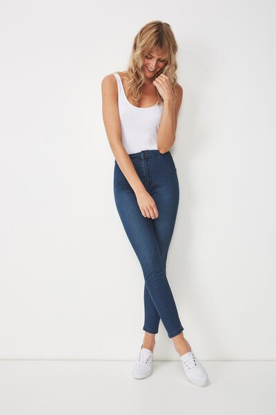 High Rise Jegging, WINTER BLUE