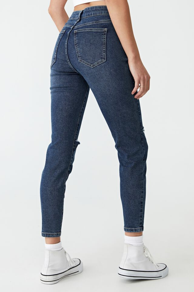 Mid Rise Cropped Skinny Jean, SOUTHSIDE BLUE RIPS