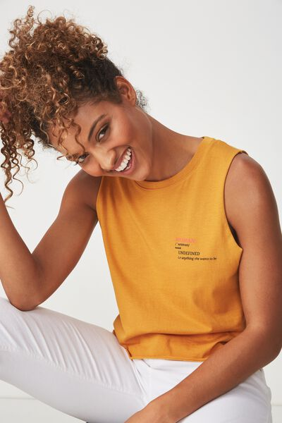 Tbar Lola Graphic Tank, WOMAN UNDEFINED/INCA GOLD