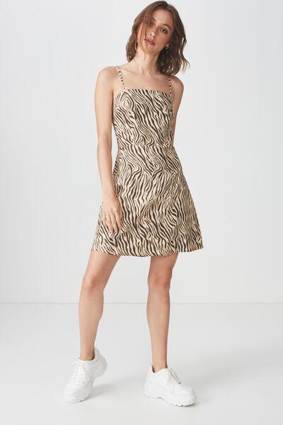 Woven Krissy Dress, SARAH ZEBRA APRICOT ILLUSION - L