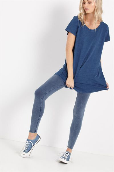 Tranquil Legging, WASHED DENIM