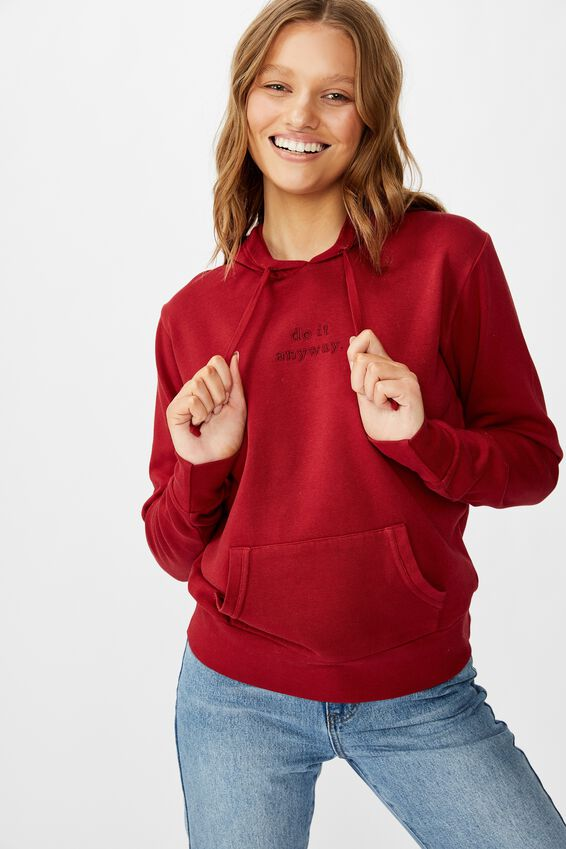 Demi Graphic Hoodie, DO IT ANYWAY/SUNDRIED TOMATO
