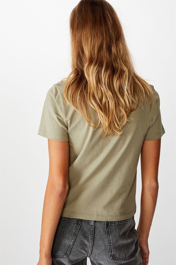 Essential Slogan T Shirt, LONE SPIRIT/DESERT TAUPE