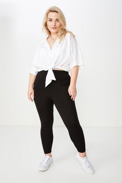 Curve Fashion Legging, BLACK