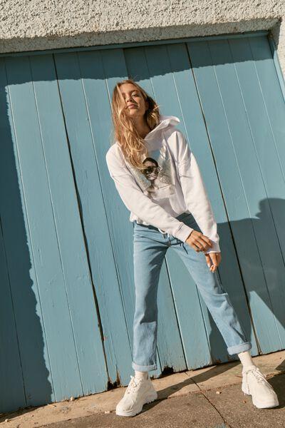 Premium Fashion Hoodie, MINIMALIST/WHITE