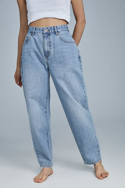 Petite Slouch Mom Jean, HAVEN BLUE