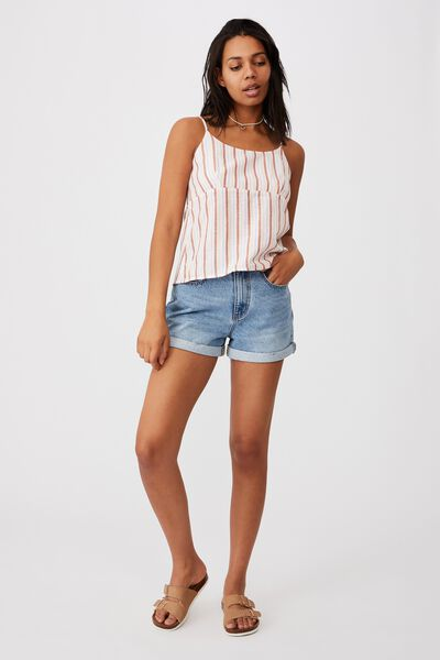 Beckie Cami, COURTNEY STRIPE SUMMER TAN