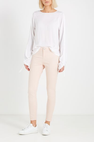 Mid Rise Jegging, SATEEN PINK SAND