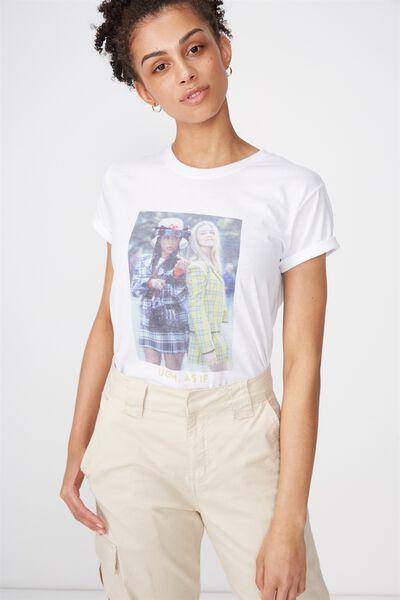 Tbar Fox Graphic T Shirt, LCN CLUELESS AS IF/WHITE
