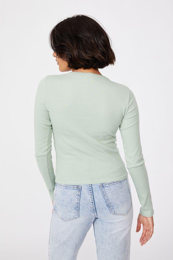 The Turn Back Long Sleeve Top, LUSH GREEN
