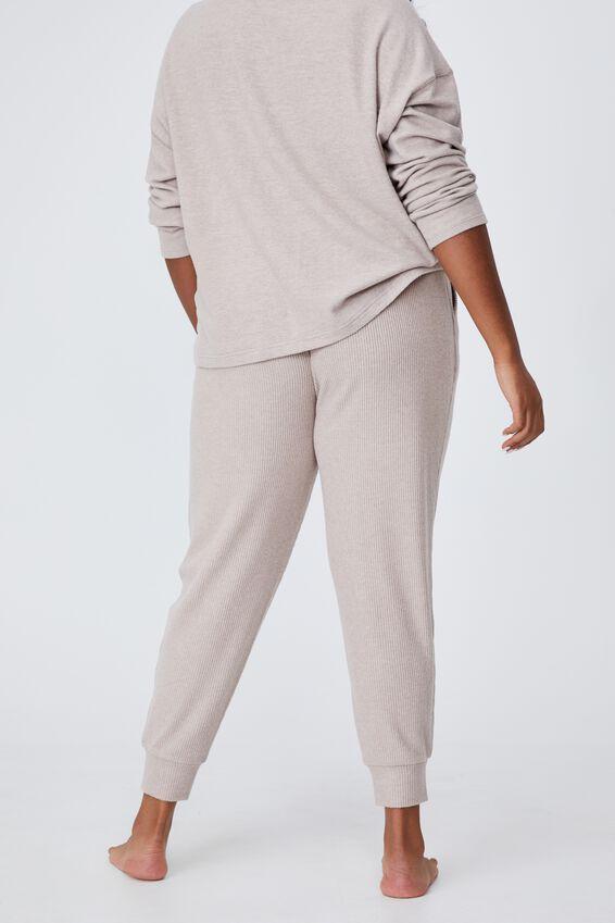 Curve Super Soft Slim Fit Pant, MUSHROOM MARLE RIB