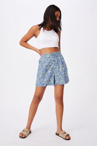 Ultimate Smart Short, HANNAH FLORAL BLUE DAISY