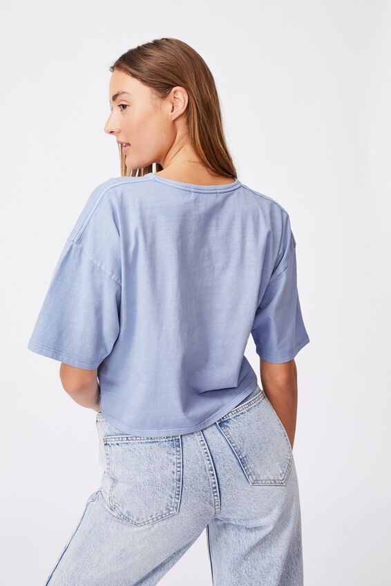The Slouch Pocket Tee, WASHED DUSK BLUE