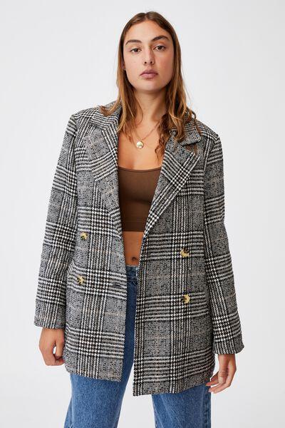 The Blazer Coat, BLACK & WHITE CHECK