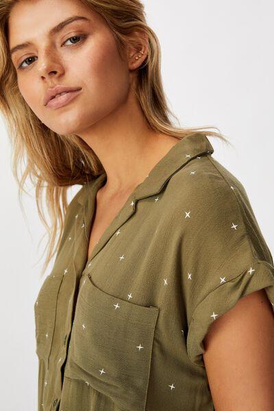 Emily Chopped Short Sleeve Shirt, ELLA STAR WINTERMOSS