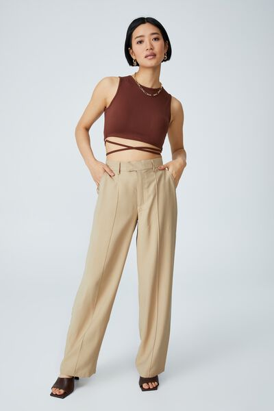 Petite Darcy Pant, LINEN TAUPE