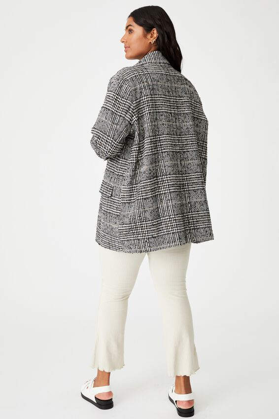 Curve Fern Blazer, BLACK WHITE CHECK