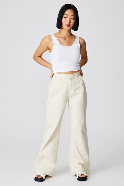 Petite Parker Long Straight Pant, VINTAGE CREAM