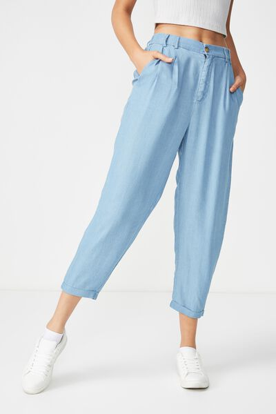 Abi High Waist Pant 2, MID BLUE