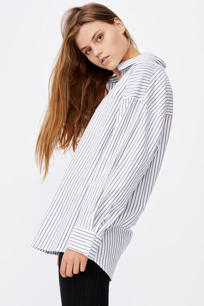 Dad Shirt, LEILA STRIPE MIDNIGHT FESTIVAL