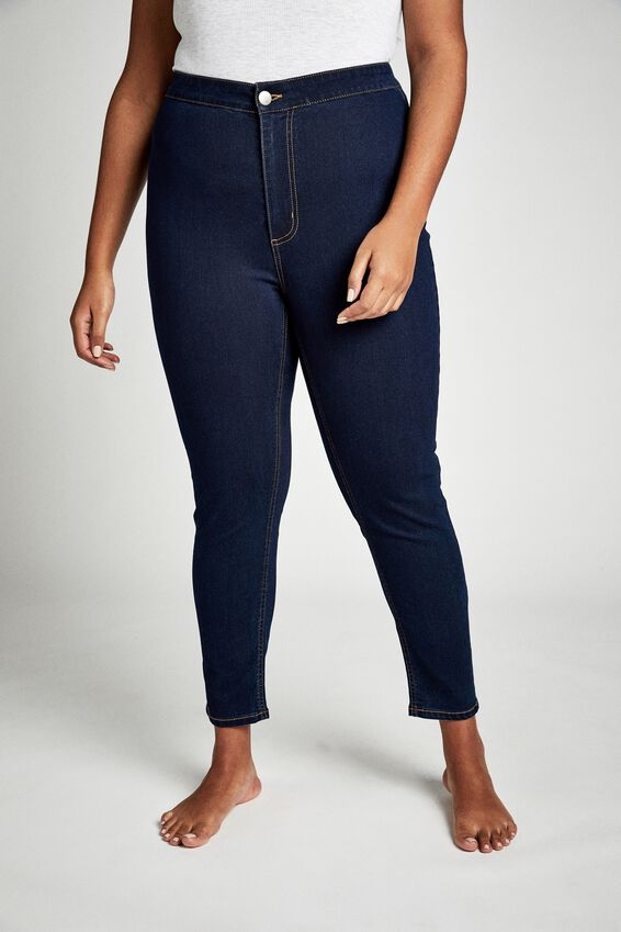 Curve Ashley High Jegging, DARK BLUE