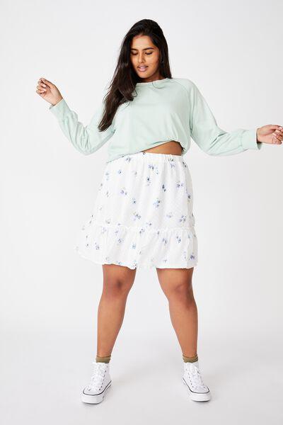 Curve Finley Mini Skirt, ARIA FLORAL FLINTSTONE