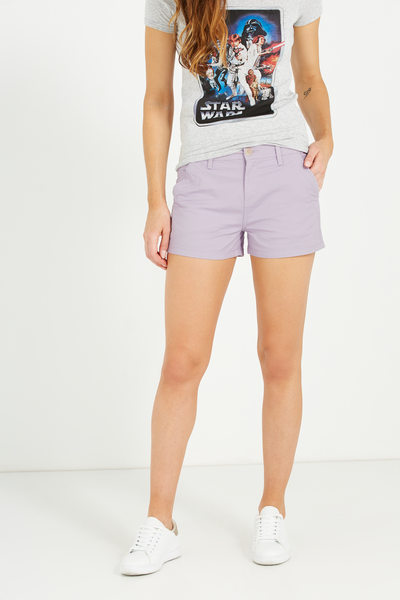 The Slant Pkt Chino Short, SATEEN HEATHER UNCUFFED