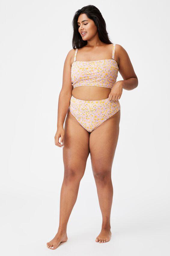 Curve High Waisted Full Bikini Bottom, SALLY DAISY SOFT ORCHID