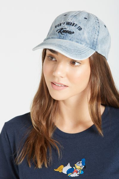 Essential Cap, BLUE DENIM/DON'T WANT TO KNOW