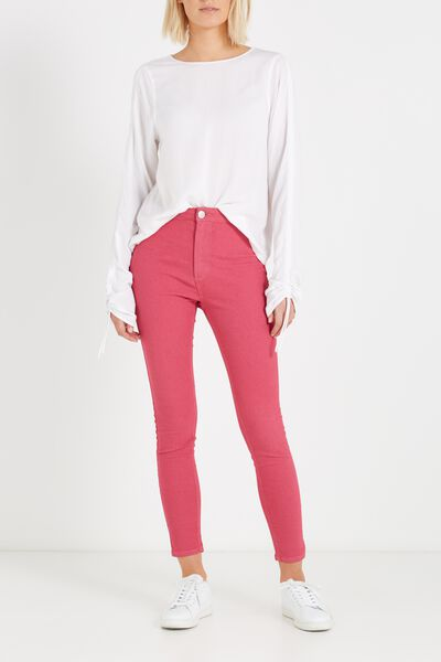High Rise Jegging, HOT PINK