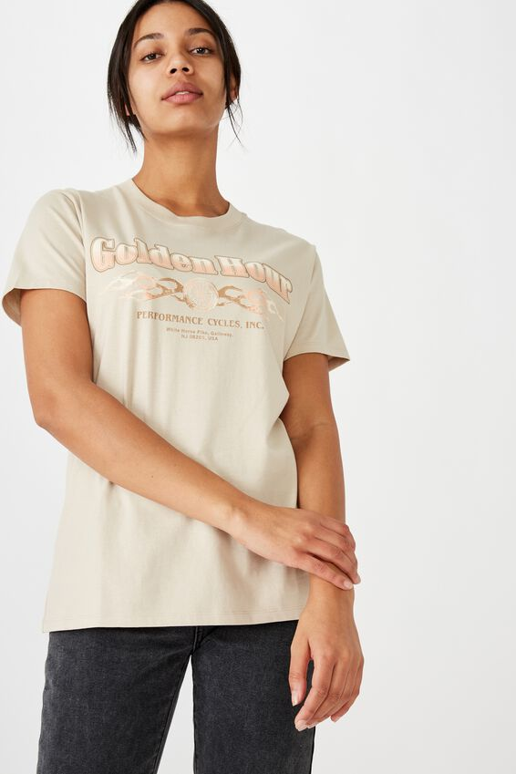 Classic Vintage Inspired T Shirt, GOLDEN HOUR/SILVER GREY