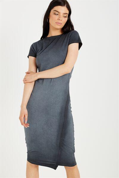Anthea Short Sleeve Midi Dress, ACID GREY