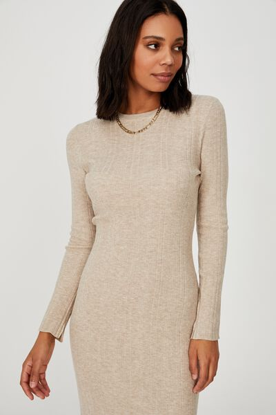 Ultimate Knit Midi Dress, TAUPE MARLE