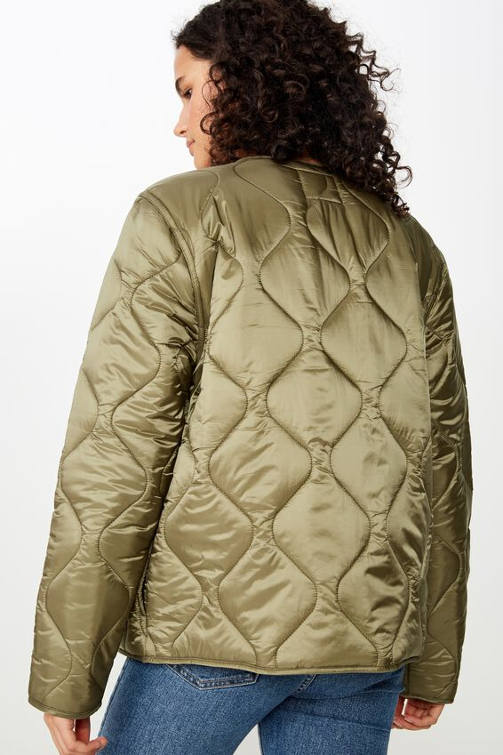 Erin Quilted Shell Jacket, WINTER MOSS