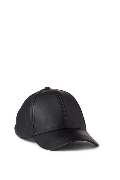 Essential Cap, BLACK PU