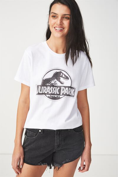 Tbar Fox Graphic T Shirt, LCN JURASSIC PARK BLACK/WHITE
