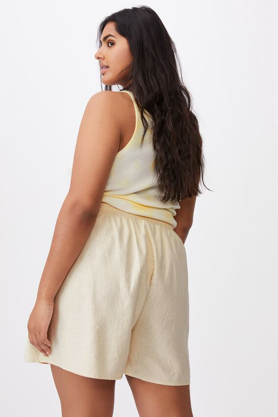 Curve Cali Pull On Short, WARM LINEN