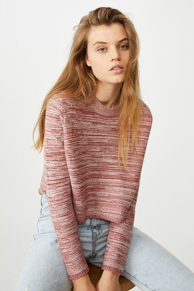 Cotton Cropped Pullover, COPPER
