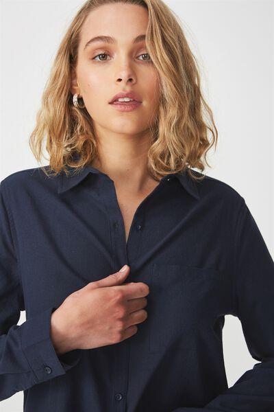 Casual Steph Shirt, NAVY