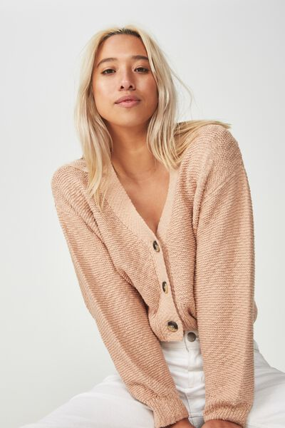 Cropped Button Up Cardi, ROEBUCK