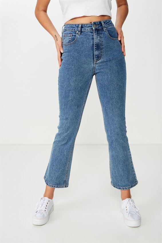 Cropped Kick Flare Jean, BERKLEY BLUE
