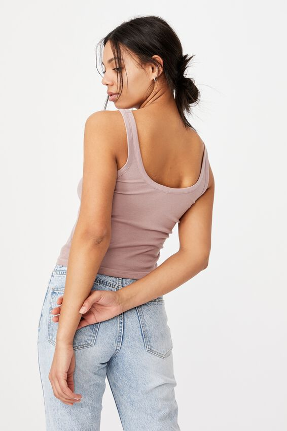 Turnback Scoop Tank, LILAC