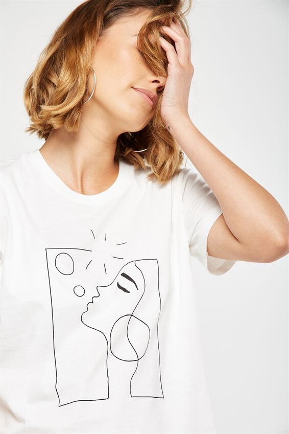 Tbar Fox Graphic T Shirt, BUBBLE BLOWER/GARDENIA