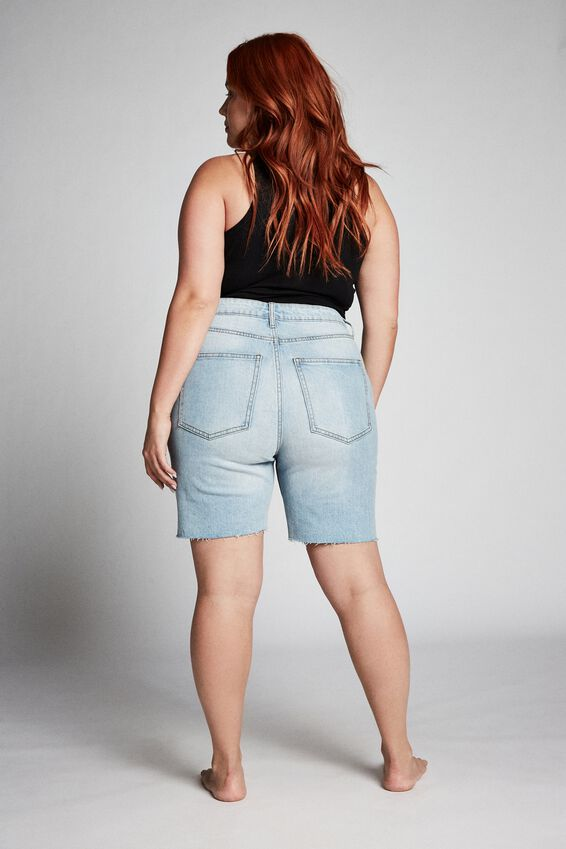 Curve Bermuda Denim Short, SKY BLUE