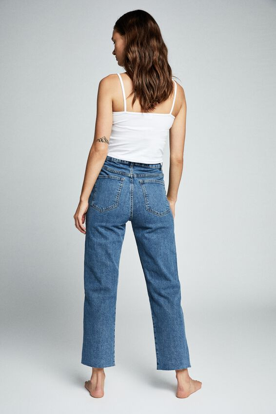 Straight Stretch Jean, BERKLEY BLUE RIP