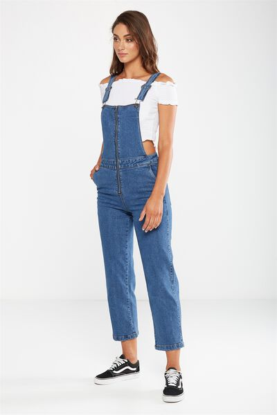 Cropped Overall, STONEWASH BLUE