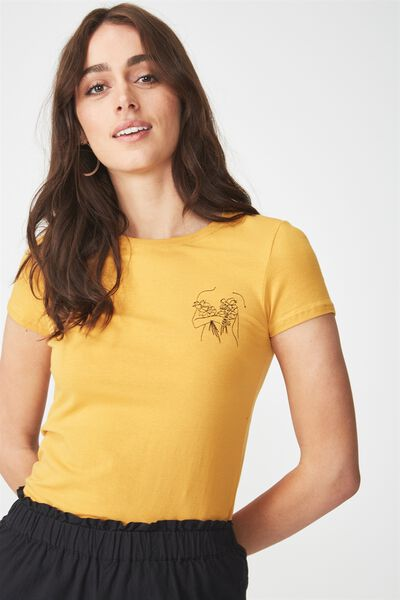 Tbar Hero Graphic T Shirt, LADY FLOWER/SPRUCE YELLOW
