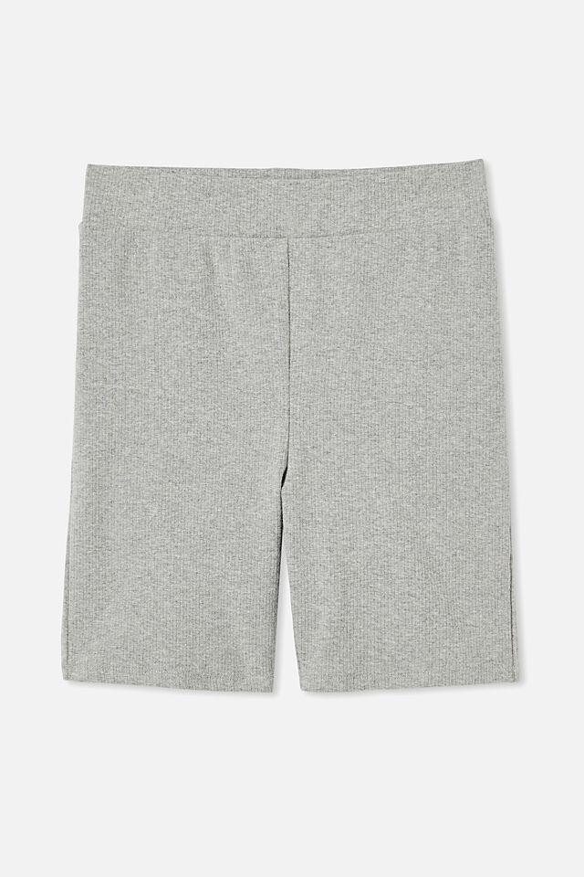 The Beverly Rib Bike Shorts, GREY MARLE